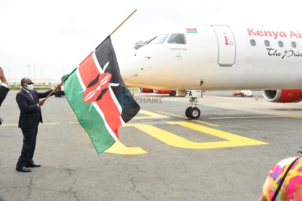 KQ boss' opinion on social distancing in planes as local flights resume 4